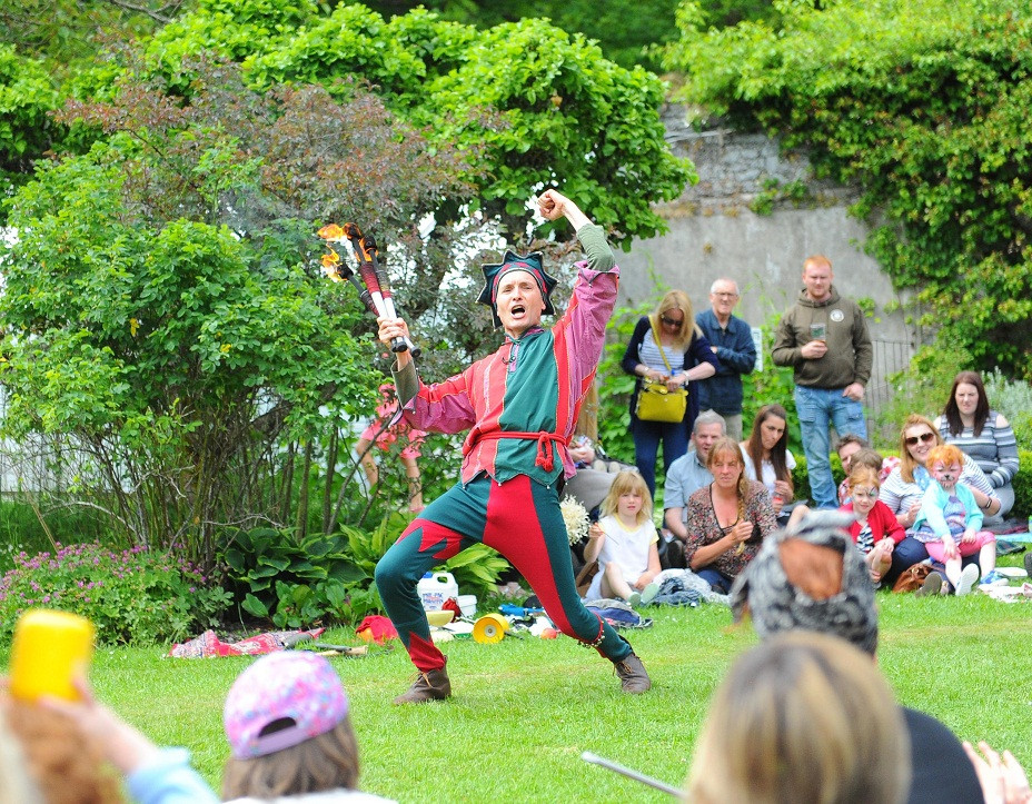28th May 2017- Jester Fabio Zaganell Traquair Medieval Fayre , Traquair House Innerleithen. Scottish BordersPIC ERIC MCCOWAT